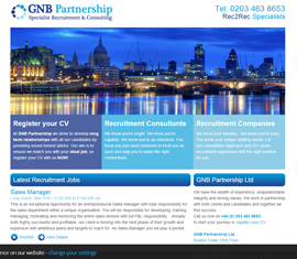 GNB Partnership, Start Up Recruitment Website